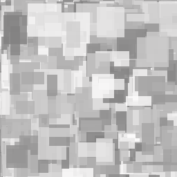 Random, gray rectangles.